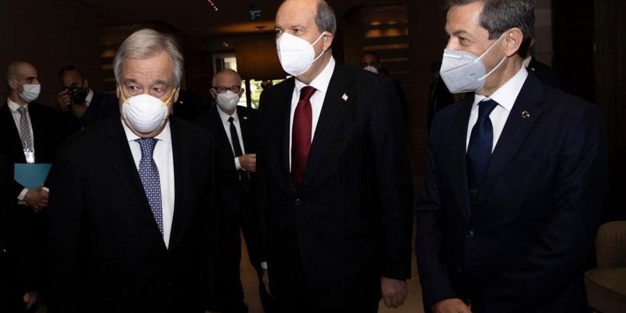 Για «ιστορικό βήμα» στη Γενεύη μίλησε ο Τατάρ επιστρέφοντας στα κατεχόμενα
