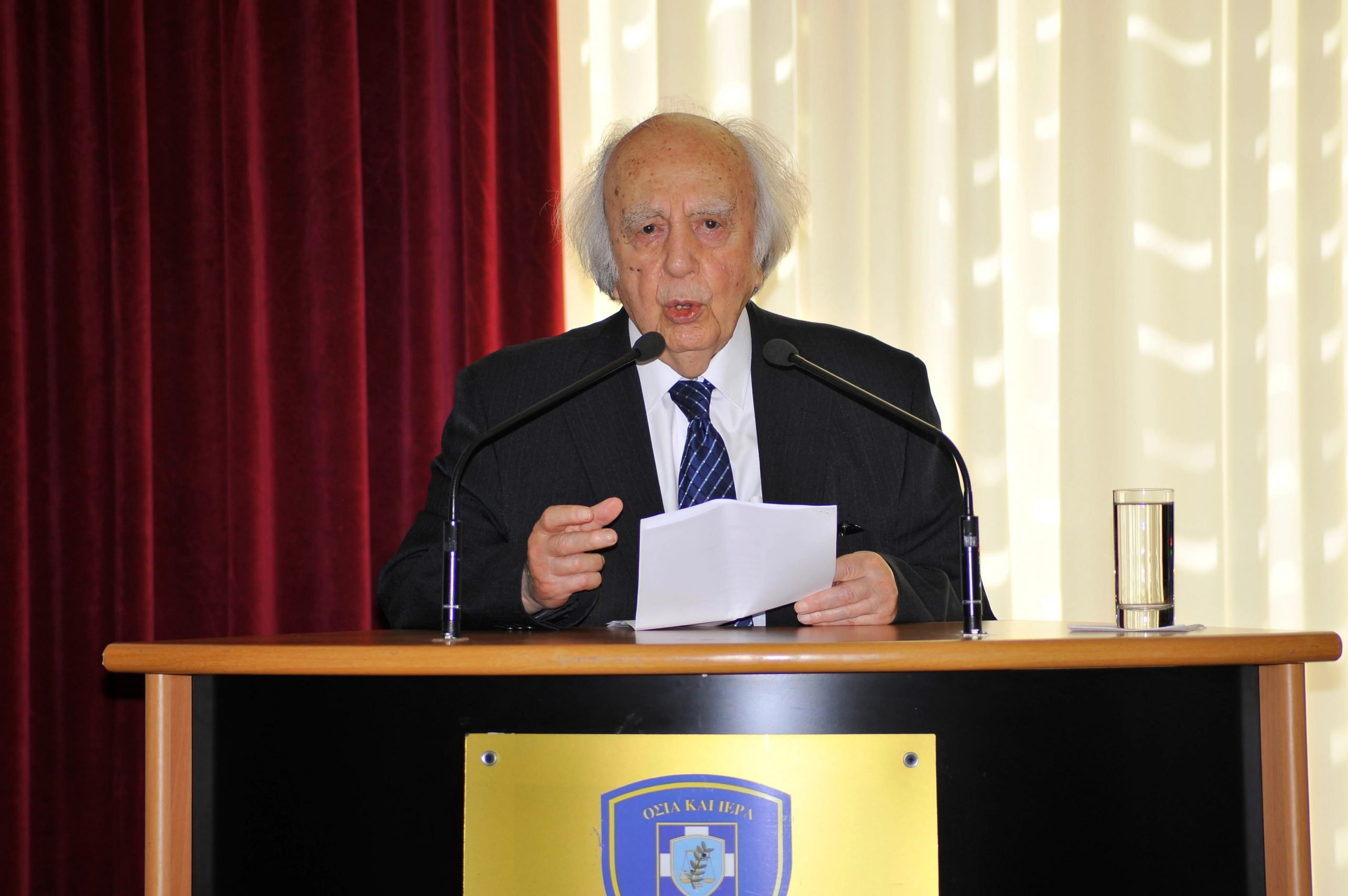 """Πένθος στην Κύπρο παραμονή της άτυπου πενταμερούς: """"Έφυγε"""" σε ηλικία 101 ετών ο πρώην πρόεδρος της Βουλής και ηγέτης της ΕΔΕΚ, Βάσος Λυσσαρίδης"""