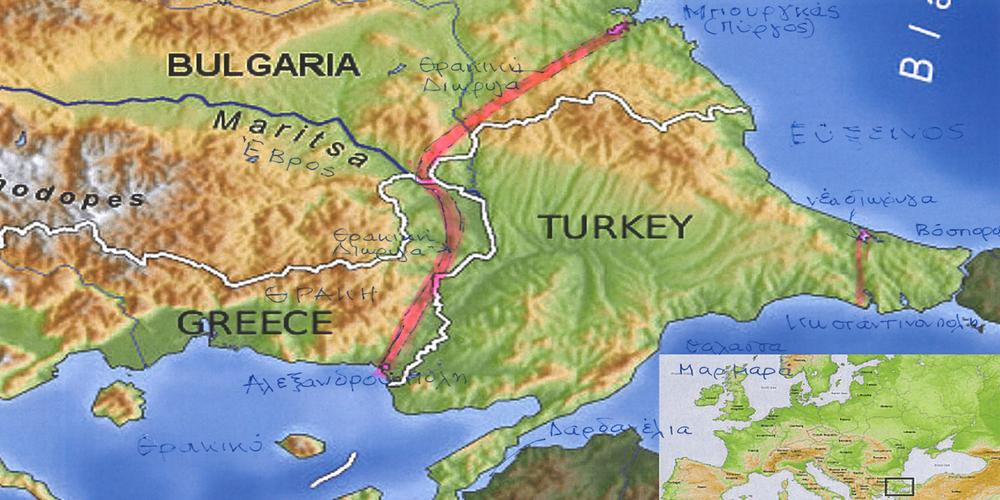 """""""Η Θρακική Διώρυγα, θα είναι η πιο σύντομη θαλάσσια οδός, μεταξύ Εύξεινου και Αιγαίου"""""""