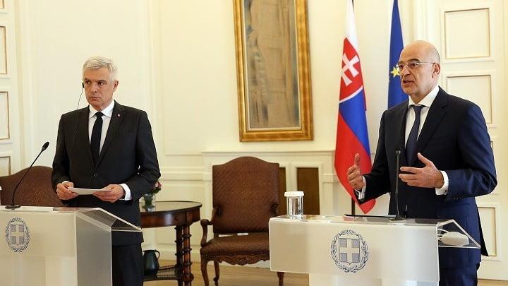 ΥΠΕΞ Ελλάδας-Σλοβακίας: Δυνατή λύση για το Κυπριακό μόνο με βάση τα ψηφίσματα του ΣΑ του ΟΗΕ και το Διεθνές Δίκαιο
