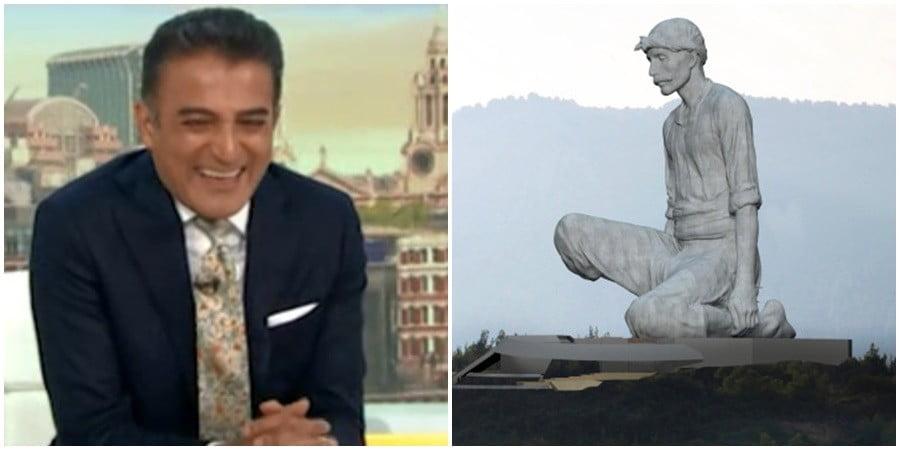"""Οι Βρετανοί """"τρόλαραν"""" με σεξουαλικά υπονοούμενα το σχέδιο του γιγάντιου αγάλματος στα Κατεχόμενα (ΒΙΝΤΕΟ+ΦΩΤΟ)"""