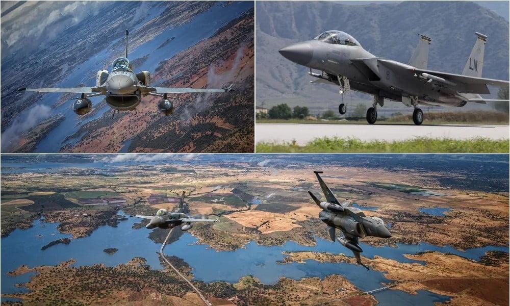 Σε ετοιμότητα για «θερμό καλοκαίρι»: «Χωρίς ανάσα» τα Ελληνικά «γεράκια» – Αμερικανικά F-15 στη Σούδα – Ελληνικά F-16 στη Σαουδική Αραβία