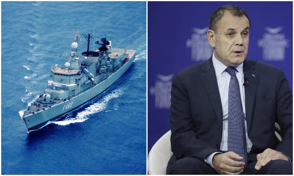 Ο Παναγιωτόπουλος «έδειξε» τις επόμενες ελληνικές φρεγάτες – Τι είπε στο Φόρουμ των Δελφών