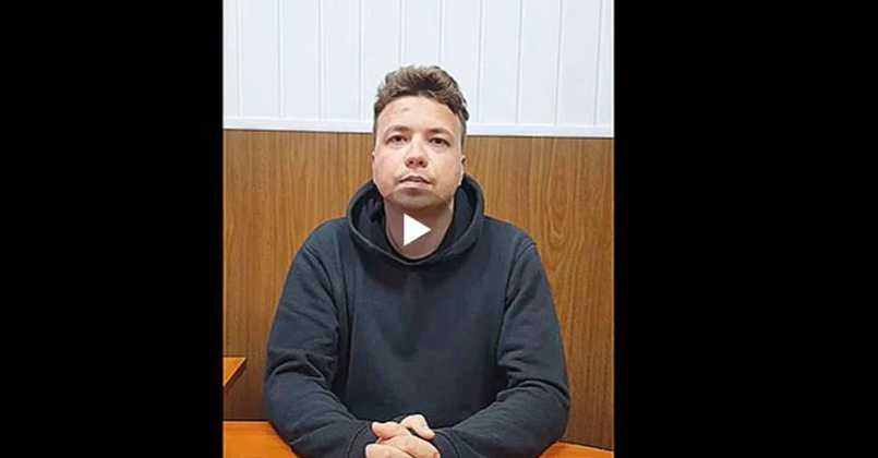 Λευκορωσία: Βίντεο με την «ομολογία» του Ρομάν Προτασέβιτς μετέδωσε η κρατική τηλεόραση