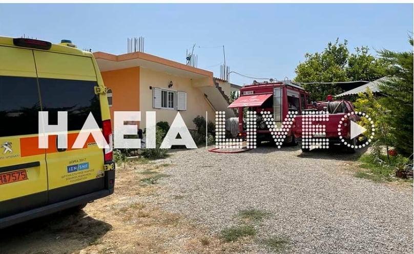 Εκπαιδευτικό αεροσκάφος έπεσε στο χωριό Χαριά στην Ηλεία