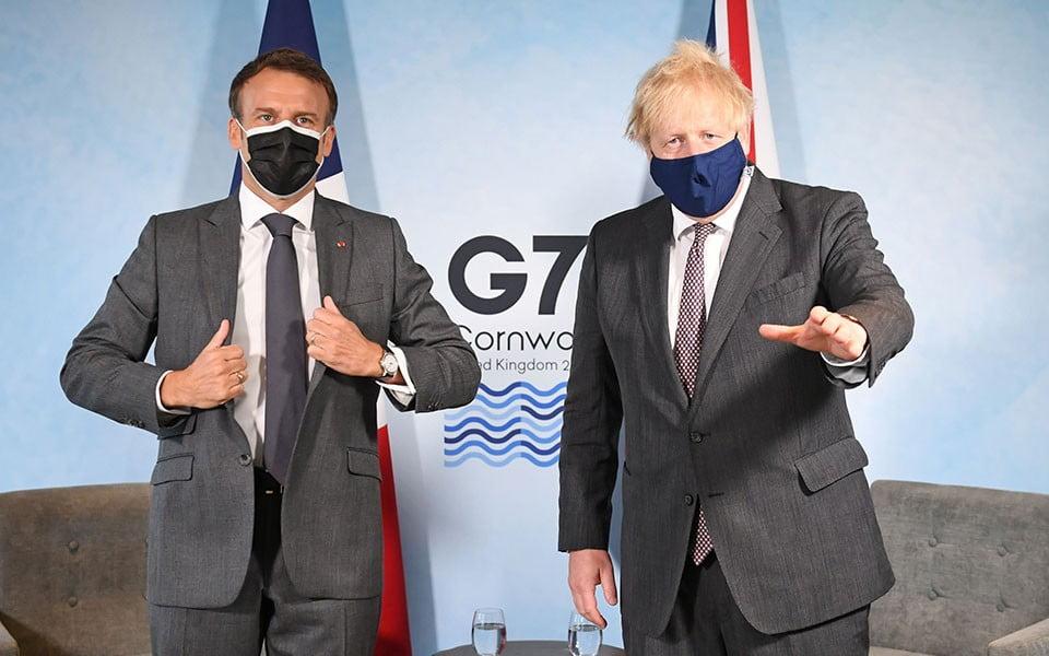 Λογομαχία Μακρόν – Τζόνσον για τη γεωγραφία του Ηνωμένου Βασιλείου μετά το Brexit