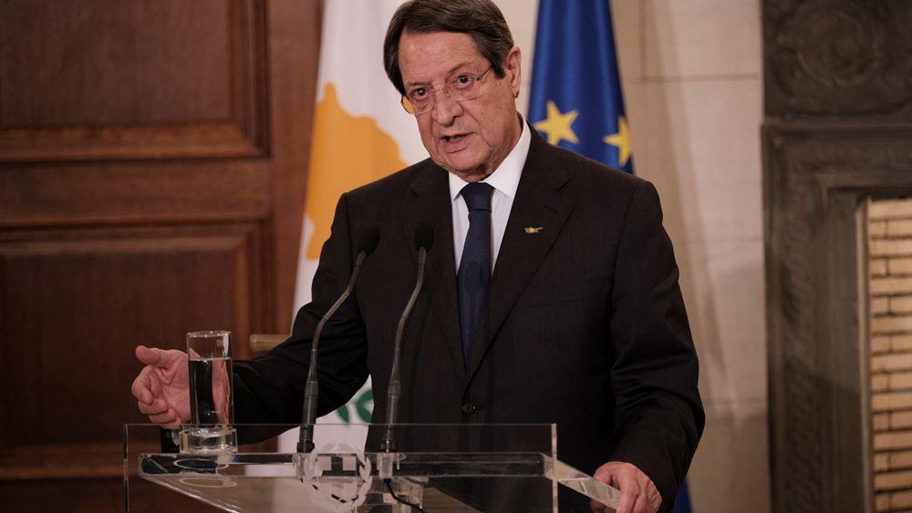 Ν. Αναστασιάδης: Δεν δεχόμαστε είναι να μετατραπεί η Κύπρος σε προτεκτοράτο της Τουρκίας