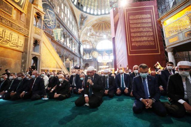 Αγία Σοφία: Ένας χρόνος μετά τη μετατροπή σε τζαμί – Προκλητικά μηνύματα από Ερντογάν και τουρκικό ΥΠΕΞ