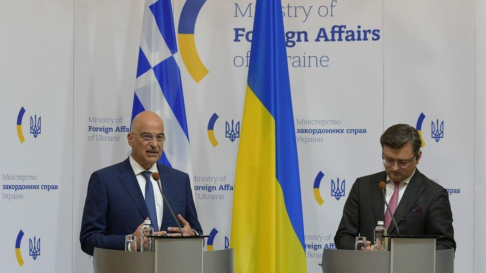 Ν. Δένδιας: Βασική αρχή για την ενίσχυση των σχέσεων Ελλάδας – Ουκρανίας η αυστηρή προσήλωση στο Διεθνές Δίκαιο