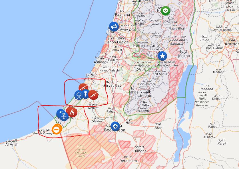 Αεροπορικά πλήγματα του Ισραήλ στη Λωρίδα της Γάζας σε θέσεις της Χαμάς