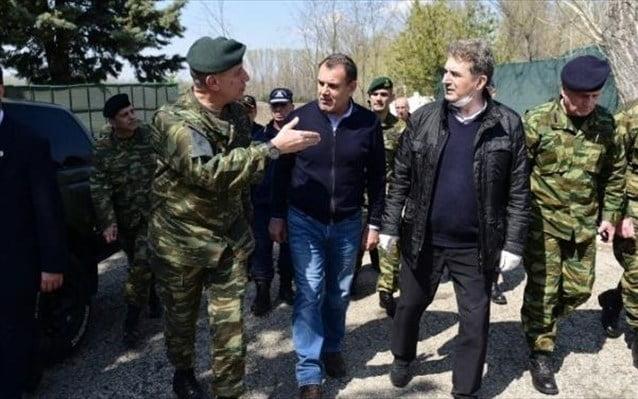 Επίσκεψη Χρυσοχοΐδη-Παναγιωτόπουλου σε φυλάκια στον Έβρο: «Τα σύνορά μας θα παραμείνουν ασφαλή και απαραβίαστα»