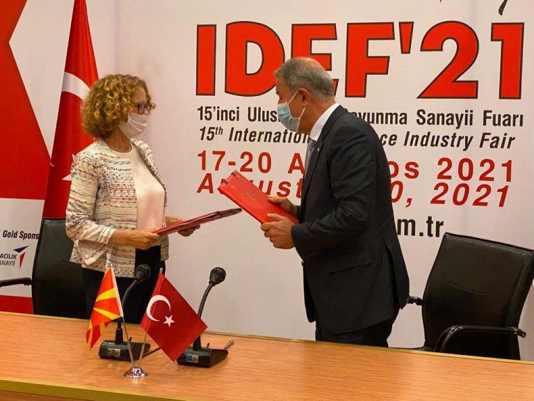 Τα Σκόπια υπέγραψαν 5ετή στρατιωτική και οικονομική συμφωνία με την Τουρκία