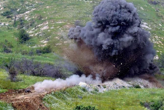 Στα εδάφη του Ναγκόρνο-Καραμπάχ που βρίσκονται υπό τον έλεγχο του Αζερμπαϊτζάν, σκοτώθηκαν ή τραυματίστηκαν 160 άνθρωποι