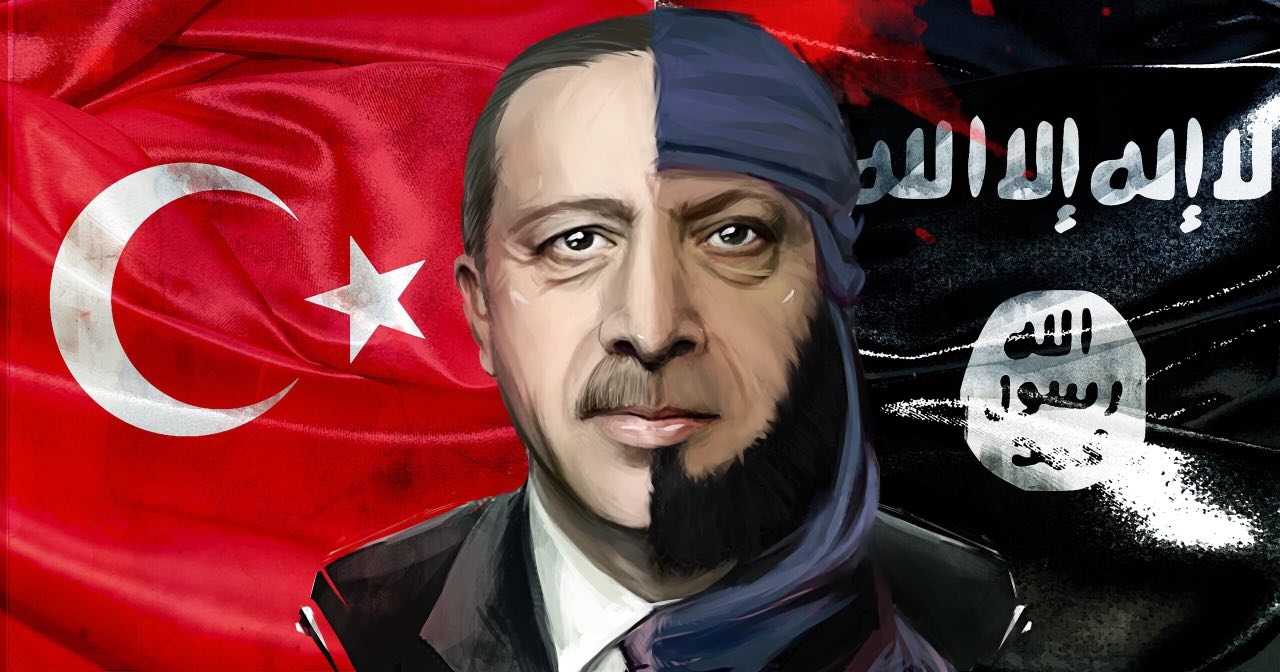 Erdogan's Turkey as a fundamental supporter of the Islamic State